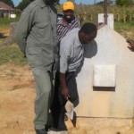 Inspecting old borehole